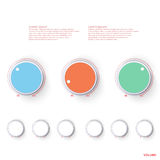 Volume control background abstract illustration Royalty Free Stock Photography