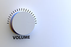 Volume control. 3d render of volume control on bluish panel Stock Photography