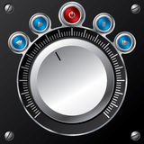 Volume control design with led buttons Royalty Free Stock Photography