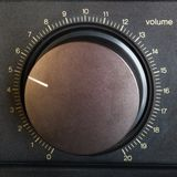 Volume control. On a hi-fi amplifier Stock Photography