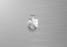 Volume control knob Royalty Free Stock Images