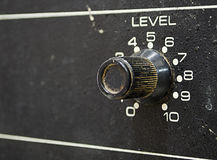 Volume control knob Stock Photo
