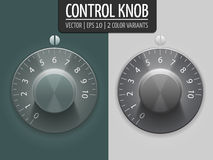 Volume control knobs, vector illustration. UI element for your design. Eps10 Royalty Free Stock Image