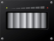 Volume control with led vector illustration