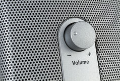 Volume control with mesh Royalty Free Stock Photos