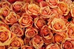 Volume das rosas em um mercado Imagens de Stock