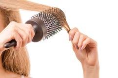 Volume dei capelli del pettine immagini stock libere da diritti