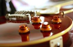 Volume della chitarra elettrica Fotografia Stock