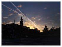 Volume di umore di mattina 1 - Tramonto e nuvole immagine stock libera da diritti
