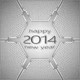 Volume en métal de bonne année Photographie stock libre de droits