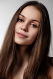 Volume Hair. Beauty Woman with Very Long Healthy and Shiny Smoot Stock Photos