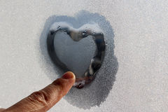 Volume heart of ice Royalty Free Stock Photo