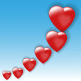 Volume hearts Royalty Free Stock Image