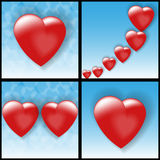 Volume hearts Stock Images