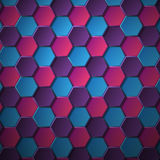 Volume hexagons Royalty Free Stock Photos