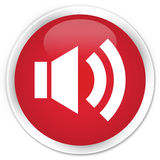 Volume icon premium red round button Stock Images