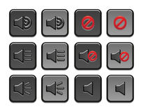 Volume icons set Stock Photography