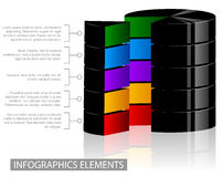 Volume info-graphic elements Stock Images