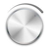 Volume knob. Illustration of a volume knob on white background Stock Photo