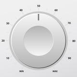 Volume knob 2. Grey volume knob. Vector illustration Royalty Free Stock Photography