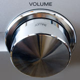 Volume knob. Top view of master volume knob Royalty Free Stock Images
