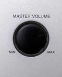 Volume knob. Master volume knob with min and max text Royalty Free Stock Photos