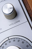 Volume knob. The volume knob on an old stereo royalty free stock image