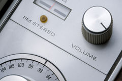Volume knob. The volume knob on an old stereo royalty free stock photography