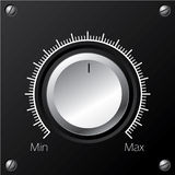 Volume knob with calibration Stock Photo