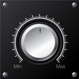 Volume knob with calibration Stock Photo