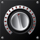 Volume knob with LED Royalty Free Stock Images