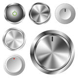 Volume knob set Royalty Free Stock Image