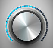 Volume knob. Vector illustration Royalty Free Stock Image