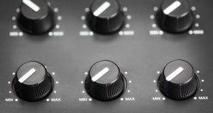 Volume Knobs Stock Image