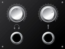 Volume knobs for headphones and or microphone Stock Photo