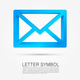 Volume letter symbol. Vector illustration Royalty Free Stock Photography