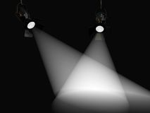 The volume light. Two rays Stock Image