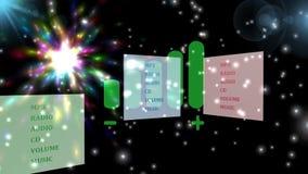 Volume, a melhor animação, a melhor ilustração 3D video estoque