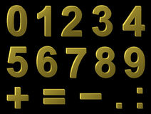 Volume metal digits Royalty Free Stock Images