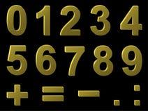 Volume metal digits Royalty Free Stock Images