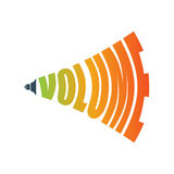 Volume music sign audio icon. Symbol for sound level Stock Photography