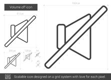 Volume off line icon. Royalty Free Stock Images