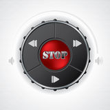 Volume and playback control gauge design Stock Image