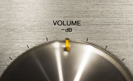 Volume push button on a hi-fi Royalty Free Stock Image