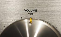 Volume push button on a hi-fi. Close up of a volume push button on a hi-fi Royalty Free Stock Image