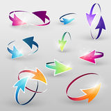 Volume set of cursors, vector graphics. Royalty Free Stock Image