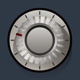 Volume settings, sound control knob Royalty Free Stock Image