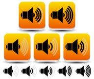 Volume / Sound Level Symbols - Icons Royalty Free Stock Photo