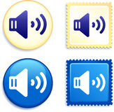 Volume on Stamp and Button Royalty Free Stock Image