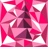 Volume tree illustration of prisms. Pink and purple background Royalty Free Stock Photos